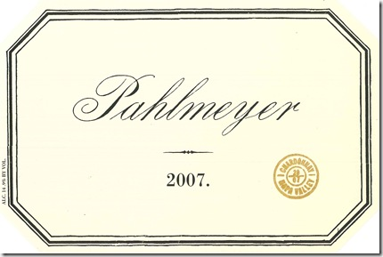 2007 Pahlmeyer Napa Valley Chardonnay Front